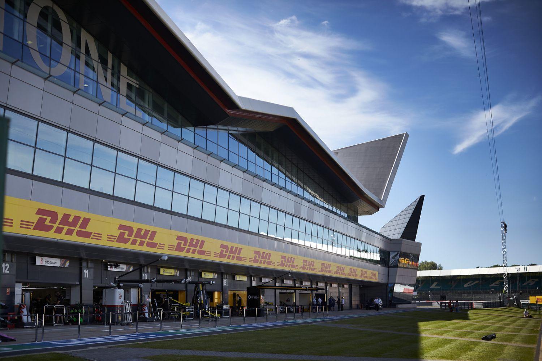 Pitlane du circuit de Silverstone