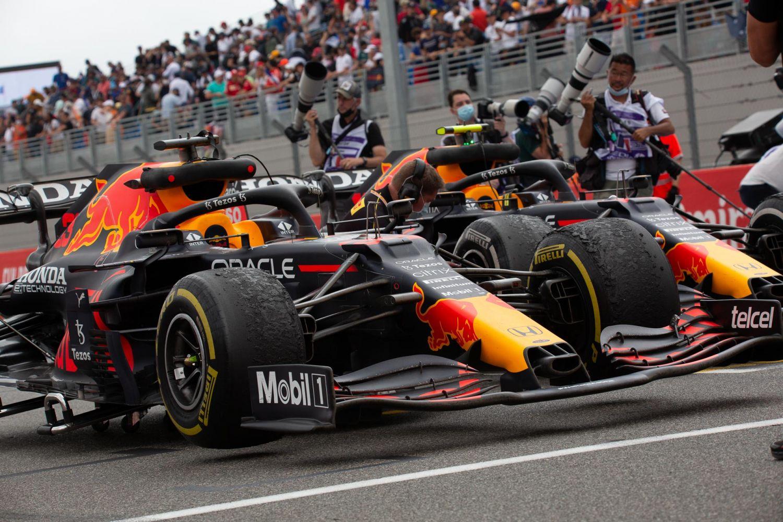 Les deux Red Bull sont sur le podium de ce Grand Prix de France.