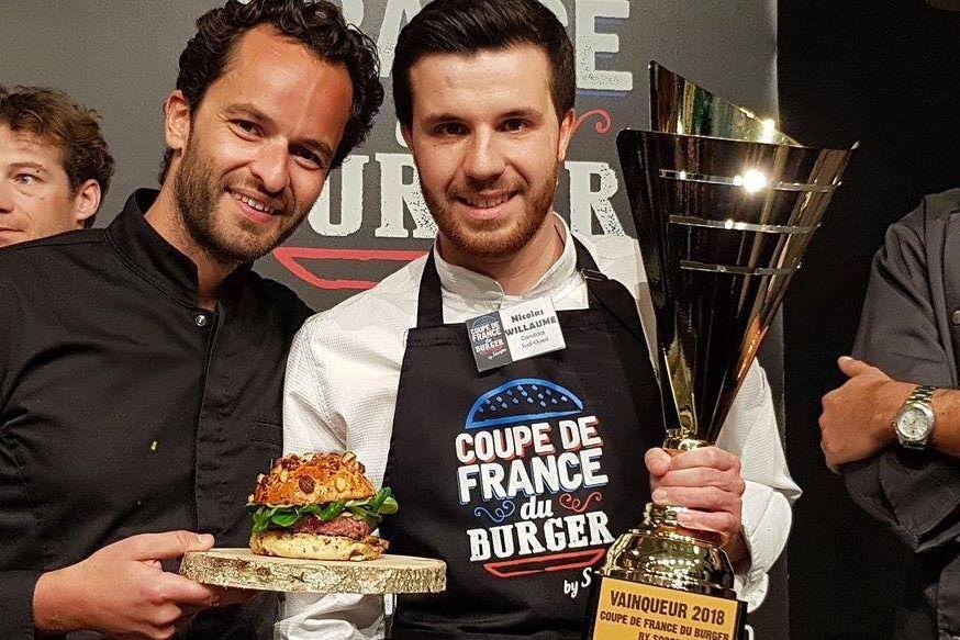 Nicolas Willaume célébrant son titre de champion de France en 2018