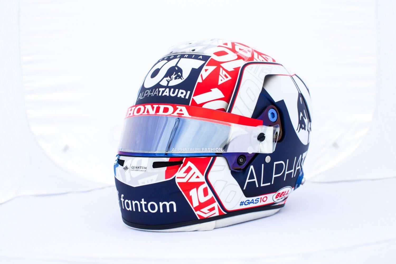 Les pilotes français avec un casque spécial au Grand Prix de France