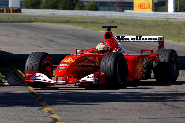 Luca Badoer en 2001 sur la Ferrari F1