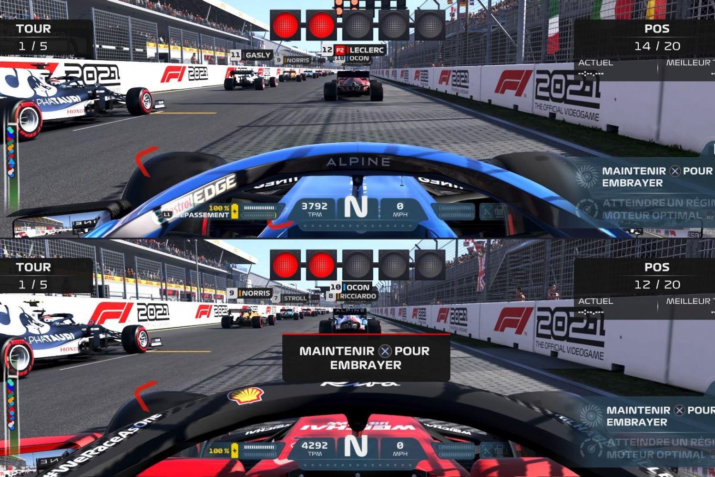 Ecran partagé sur F1 2021