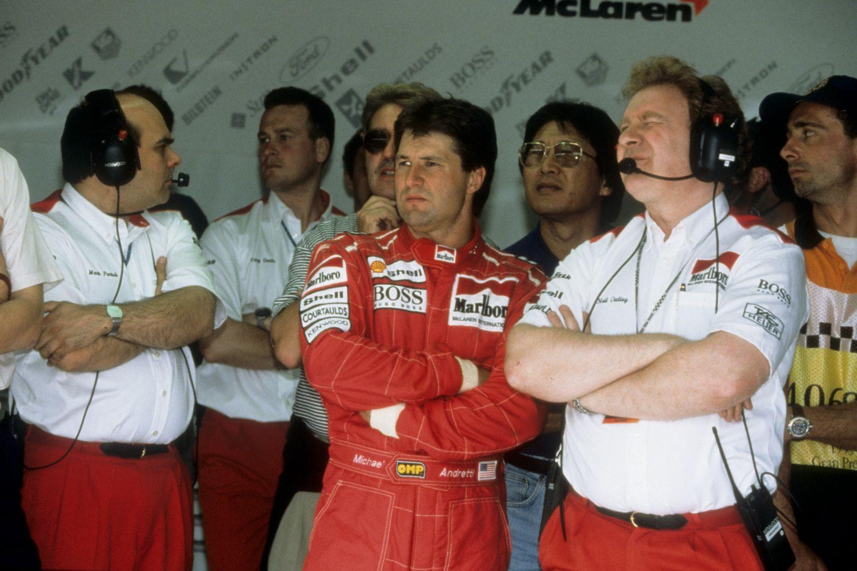 Michael Andretti avait déjà connu une expérience, peu glorieuse en F1, avec Mclaren en 1993.