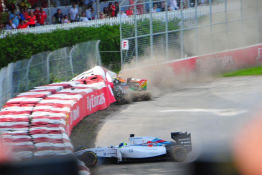 Le crash de Massa avec Perez par Eric OK / Flickr