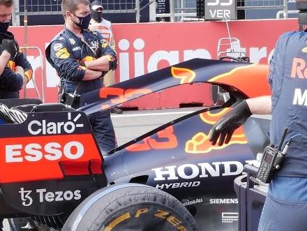 Le capot moteur modifié de la Red Bull
