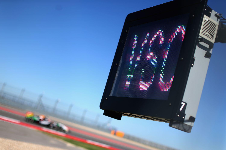 Le panneau de VSC en bord de piste