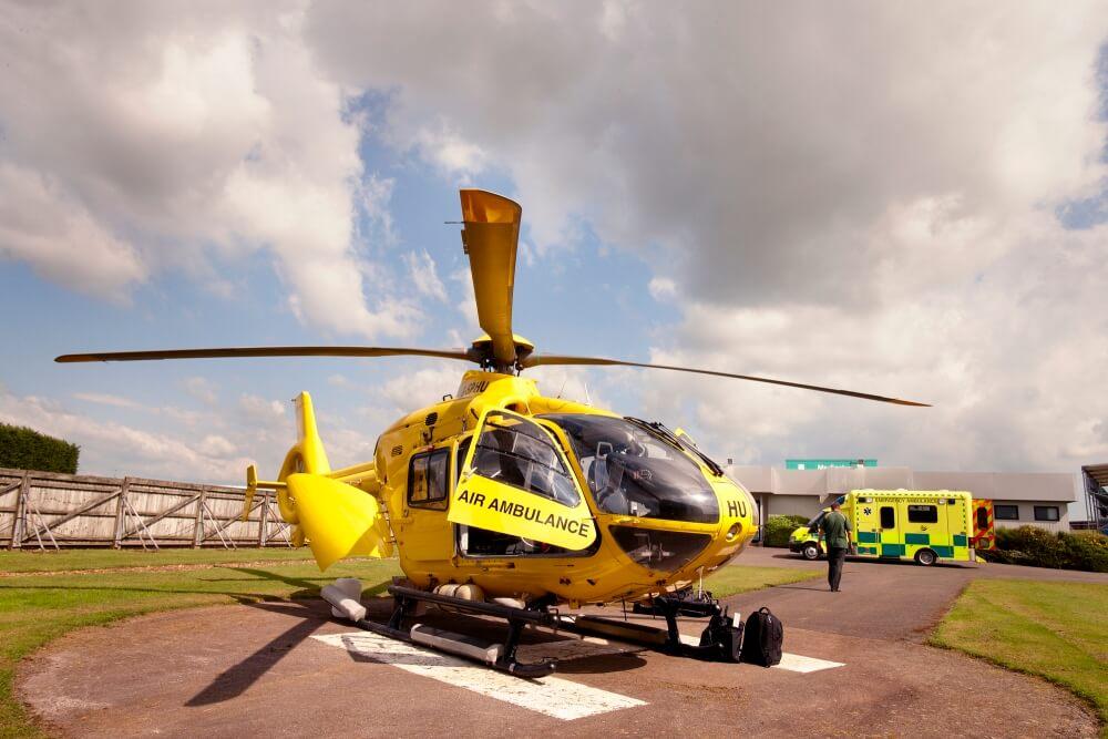L'hélicoptère médicalisé de Silverstone