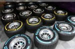 Photo Soft and medium dry tyres as well as wet tyres being laid out-1024.jpg